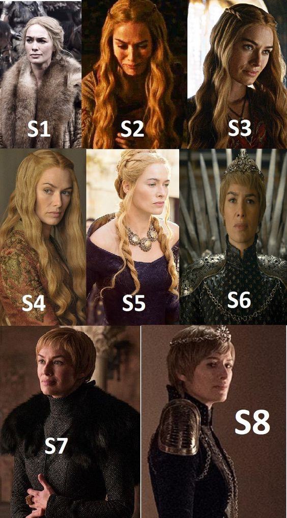 Cersei Lannister Season 1 to 8