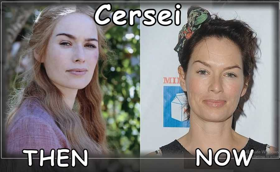 Cersei Then And Now