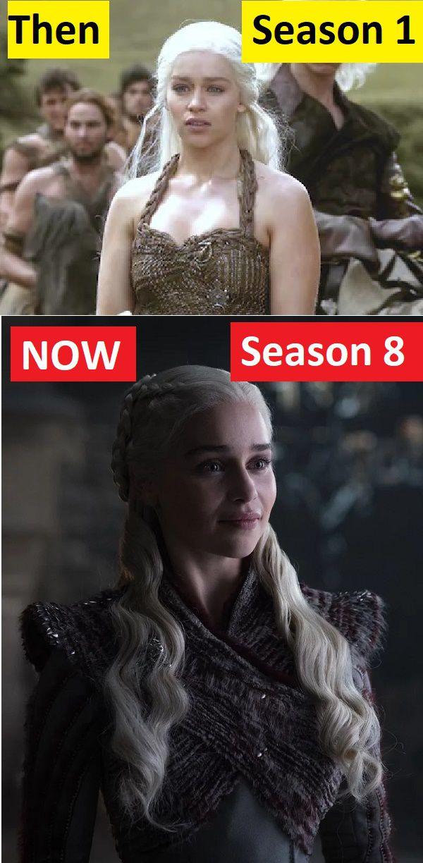 Daenerys Targaryen Season 1 vs Season 8