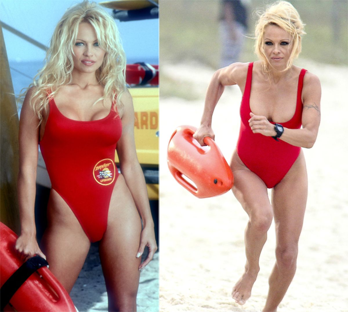 Pamela Anderson Then And Now