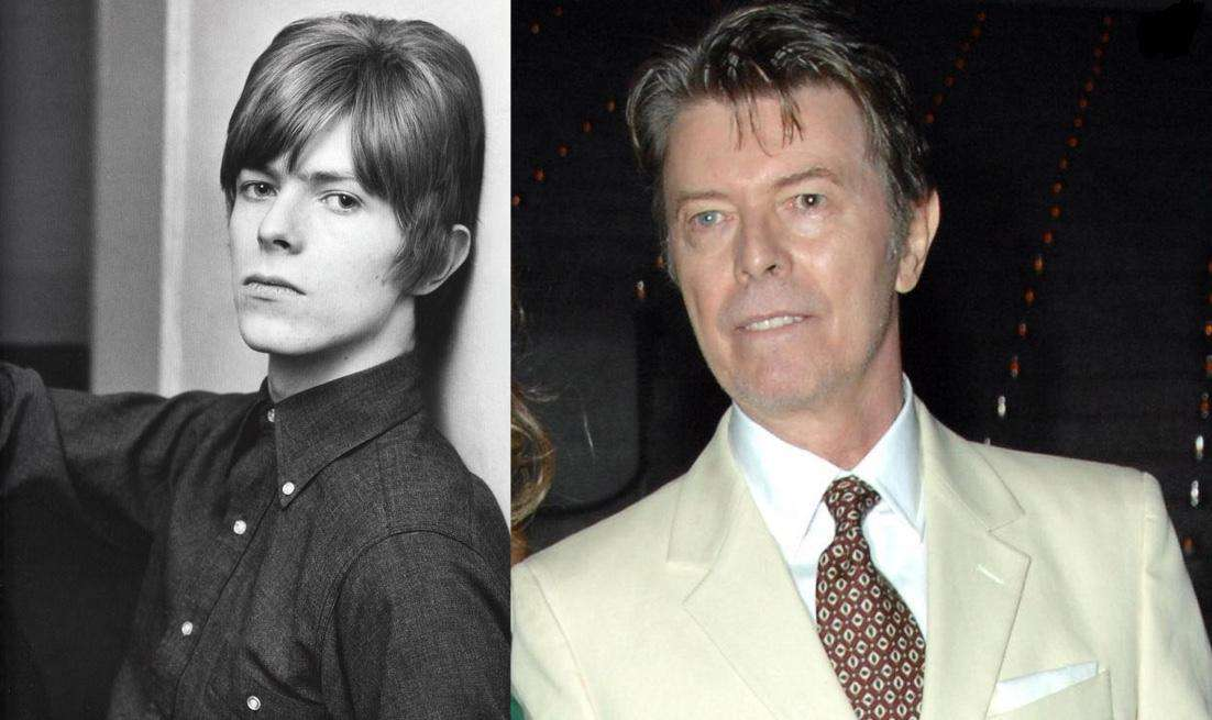 David Bowie Then And Now