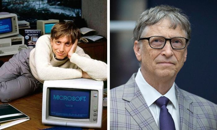 Billionaires Then And Now, Bill Gates Then And Now
