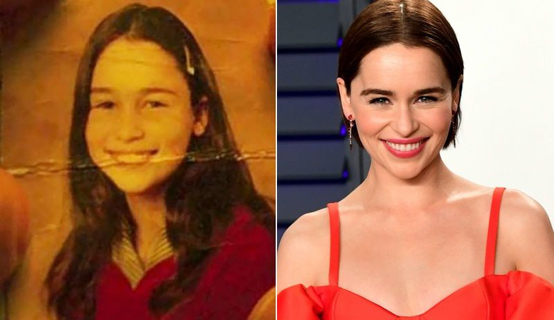 Emilia Clarke Childhood Vs Now