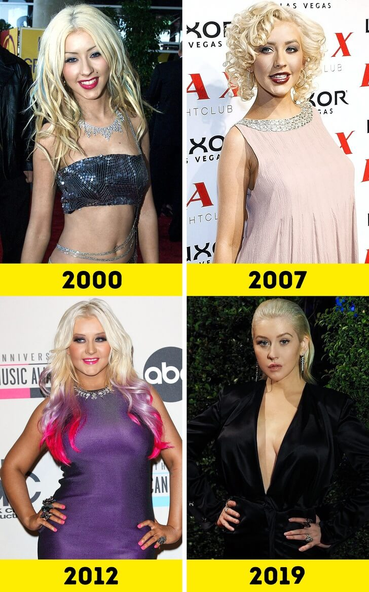 Christina Aguilera Then And Now
